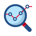 data analysis track icon